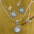 'Goddess' Moonstone Jewelry Set