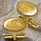 Elite Collection Personalized Monogram Gold Cuff Links