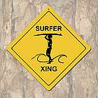 Female Surfer Crossing Sign