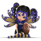 A Little Bit of Magic Baltimore Ravens Fairy Figurine