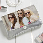 Precious Custom Photo Wristlet in Metallic Silver