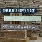 Wood Wall Sign with Any Personalized Text