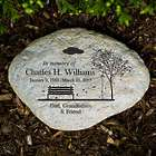 Personalized Empty Bench Memorial Garden Stone