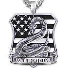 Don't Tread On Me Men's Pendant Necklace