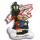 Lamp Post Bear Couple Chistmas Ornament