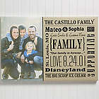 Personalized Family Canvas Photo Print