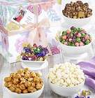 Fancy Floral Snacks and Sweets Gift Basket