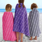 Kids Personalized Repeating Name Beach Towel