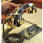 Retro Phone Handset in Gold