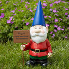Personalized Garden Gnome with Sign