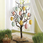 Easter Egg Ornaments Set with Raffia