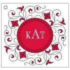 40 Personalized Monogram Favor Cards