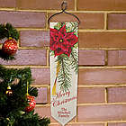 Personalized Poinsettia Christmas Banner