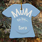 Personalized Ceramic Mom to Be Ornament