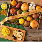 Happy Birthday Organic Fresh and Dried Fruit Basket