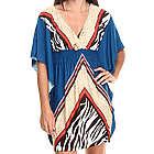 Women's Placement Print Kimono Dress