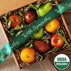 Organic 9 Piece Fruit Box with Sympathy Ribbon