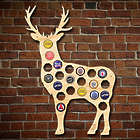 Buck Deer Beer Cap Map Bar Sign