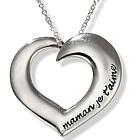 Maman Je Taime Poesy Heart Necklace