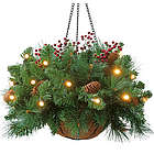 Cordless Hanging LED Greenery Basket