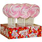 24 Light Pink and White Whirly Pops