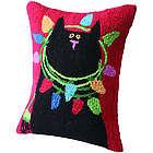 Christmas Cat Pillow