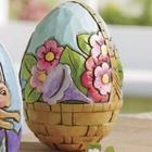 Flower Basket Springtime Egg Figurine
