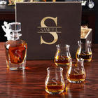 Personalized Oakmont Glencairn Glasses with Draper Decanter