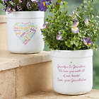 Close to Her Heart Personalized Flower Pot