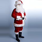 XL Velour Santa Suit
