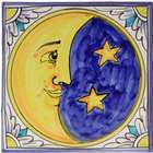 Italian Moon Ceramic Plaque