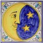 Italian Moon Ceramic Plaque