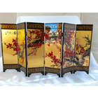 Feng Shui Tabletop Art Plum Blossom Folding Screen