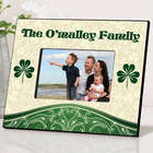 Personalized Cream and Shamrock Irish Picture Frame