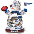 Indianapolis Colts Crystal Snowman with Moving Train