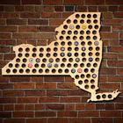Giant Extra Large New York Beer Cap Map