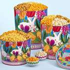2 Gallons and 4 Flavors of Popcorn in Easter in Bloom Tins