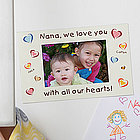 Personalized Magnet Photo Frame - All Our Hearts