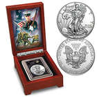 The USMC 2016 American Silver Eagle Coin with Display Case