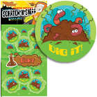 Dirt Scented Scratch-n-Sniff Stickers