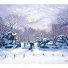 Winter Walk Commonwealth Avenue Greeting Cards