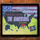 Personalized This Is Our Country Framed Canvas Art Print