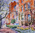 Springtime Walk in Boston Art Print