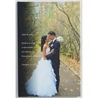 Custom Photo Wedding Sentiments Canvas Art Print
