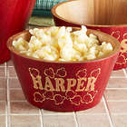 Personalized Bamboo Popcorn Bowl