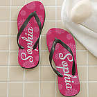 Flower Power Personalized Flip Flops
