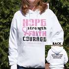 Personalized Breast Cancer Awareness Hooded Sweatshirt