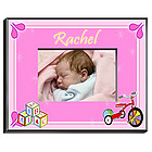 Personalized Girl's Blocks Picture Frame