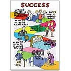 Success Funny Cartoon Happy Birthday Card