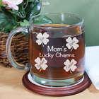 Engraved Lucky Charms Glass Mug